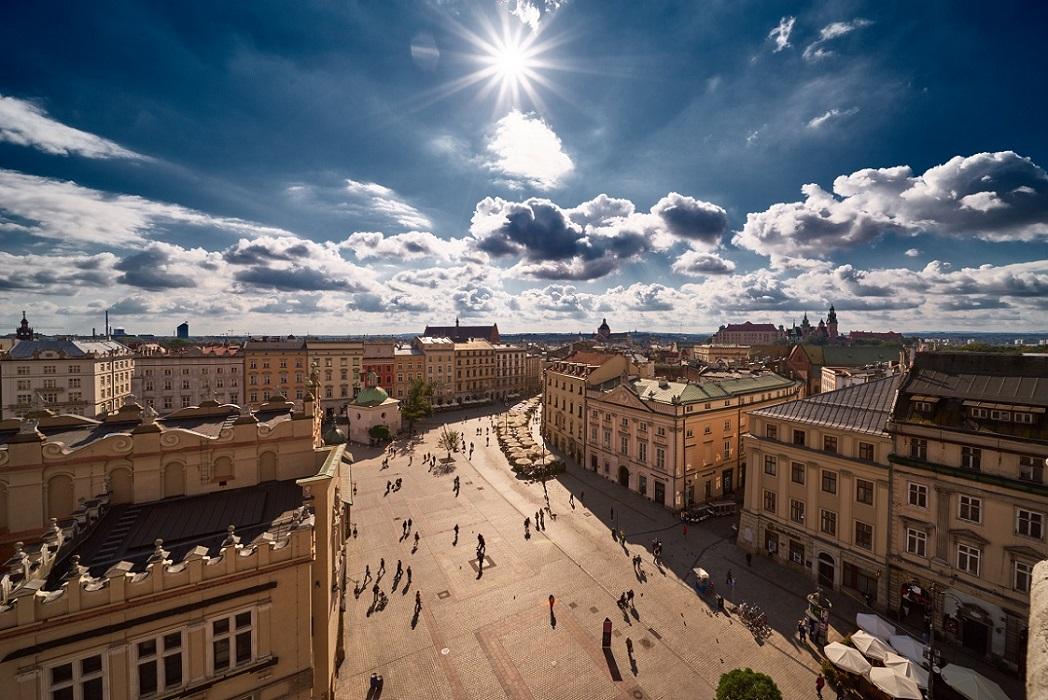 Grocka street and Wawel Castle